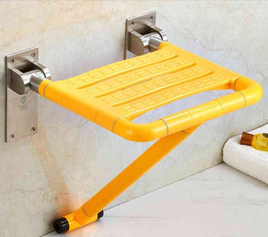 Wall Mounted Shower Bathroom Chair With Folding Seat For Bathing