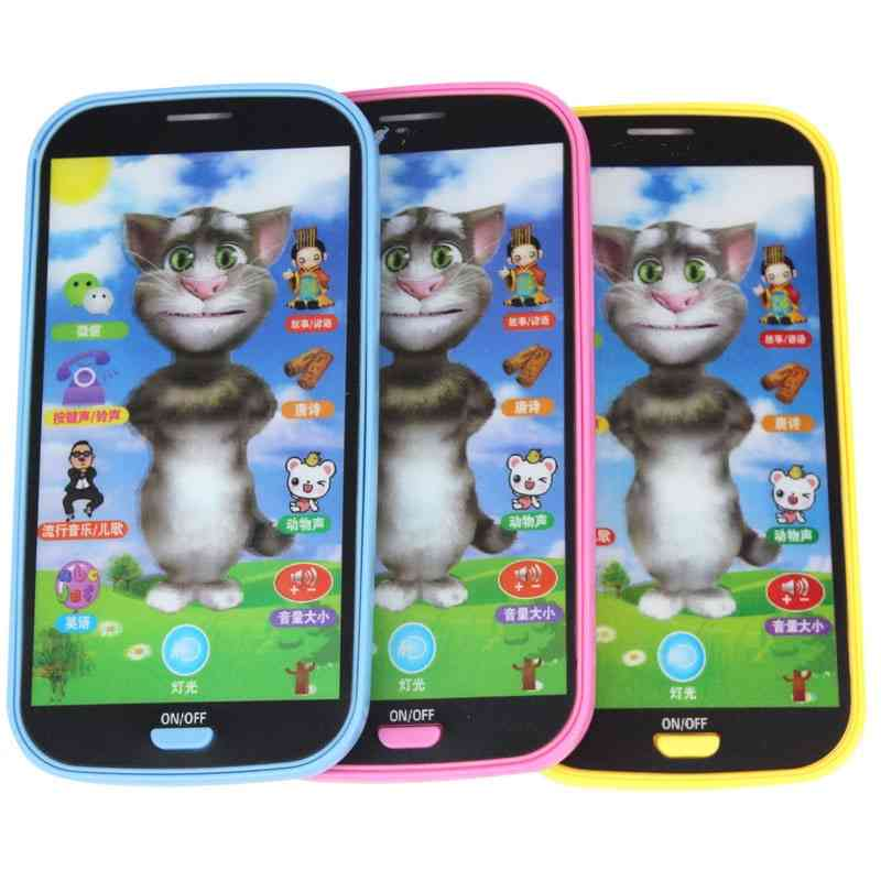 Smart Touch Screen Mobile Phone - Multi Fonction Simulation Puzzle Early Education Toy