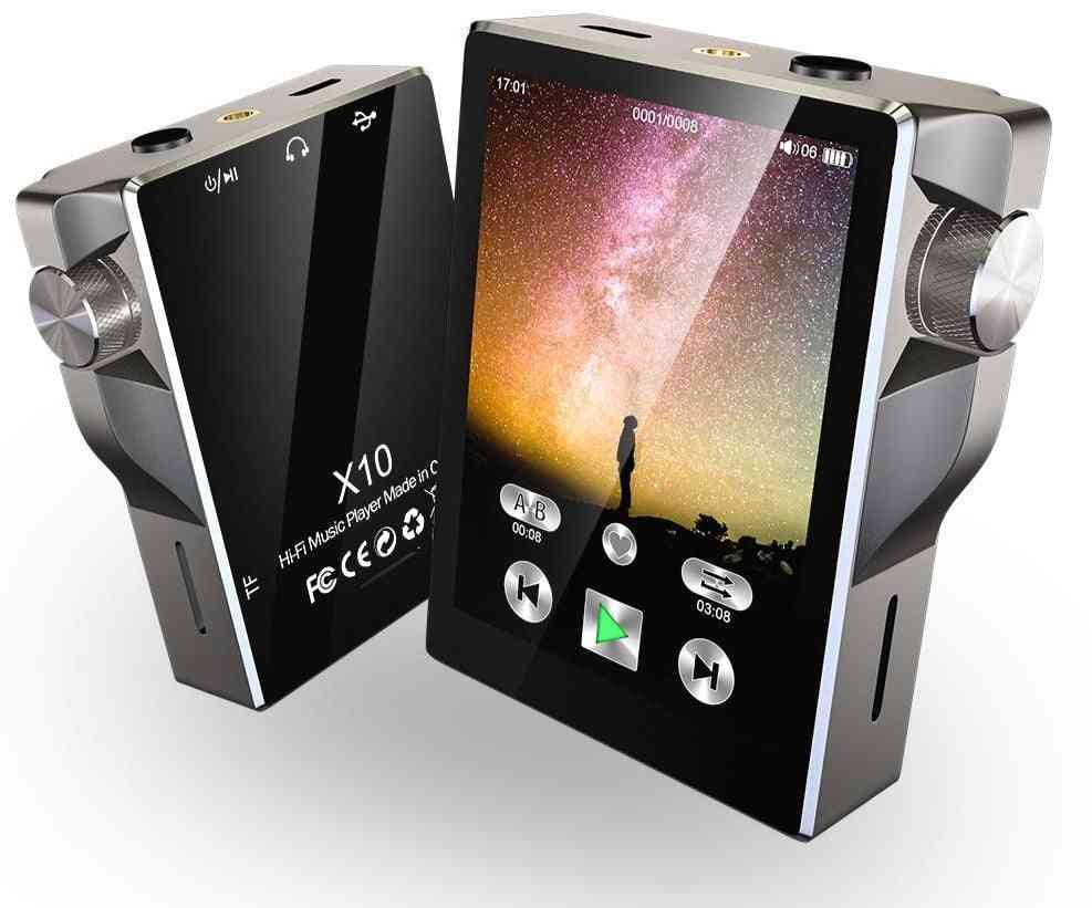 Mp3 Player With Bluetooth Touch Screen - Walkman Radio Portable Built-in Speaker Music Player