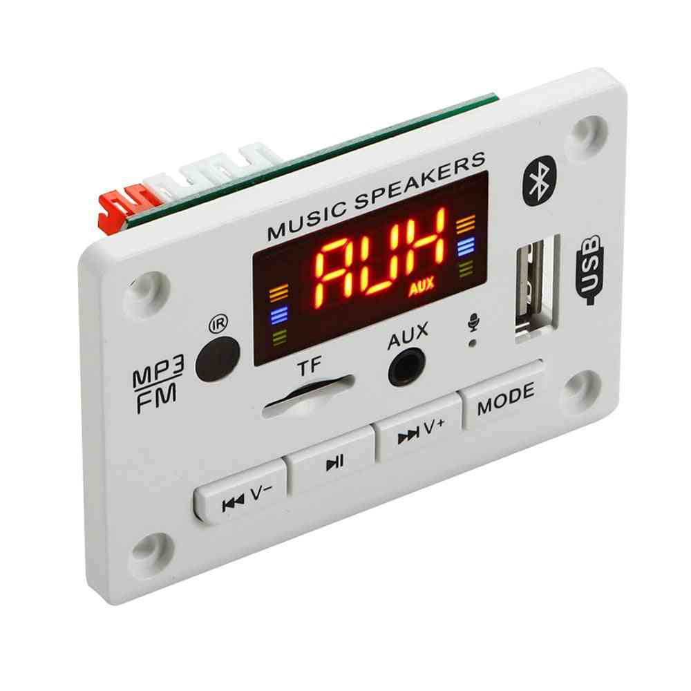 Microphone Handsfree, Wireless Car Usb Mp3 Player - Tf Card Slot / Usb / Fm