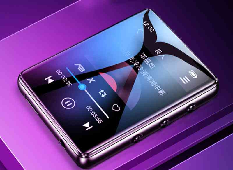 Bluetooth 5.0 Metal Mp3 Player Full Touch Screen Built-in Speaker