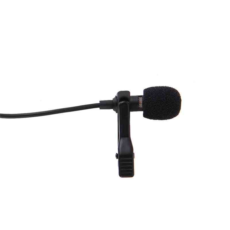 Portable Clip On - 3.5mm Mini Wired, Jack Hands Free Microphone