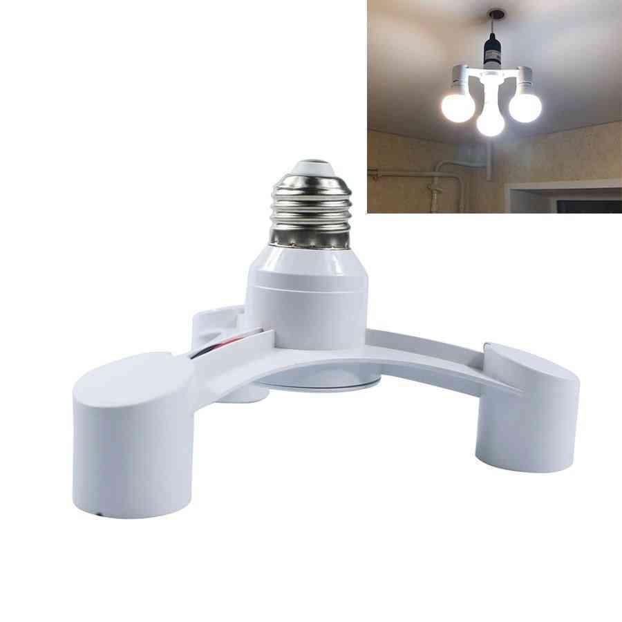 3in1 E27 To E27 Extended Led Lamp Bulbs Socket Splitter - Adapter Holder