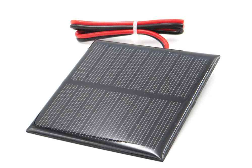 Solar Panel, Battery Cell Phone Charger With Connect Wire