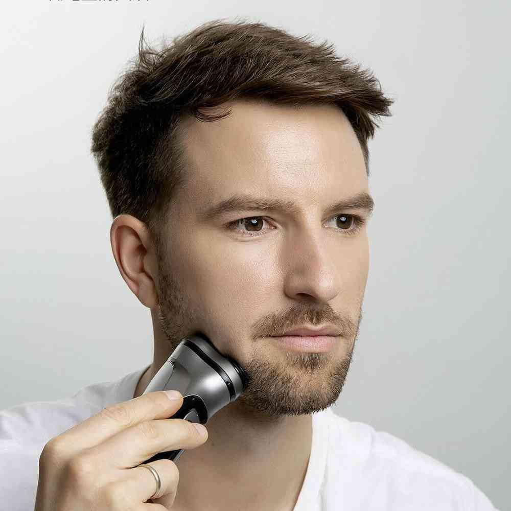 Men Washable Usb Rechargeable - 3d Beard Electric Original Face Shaver