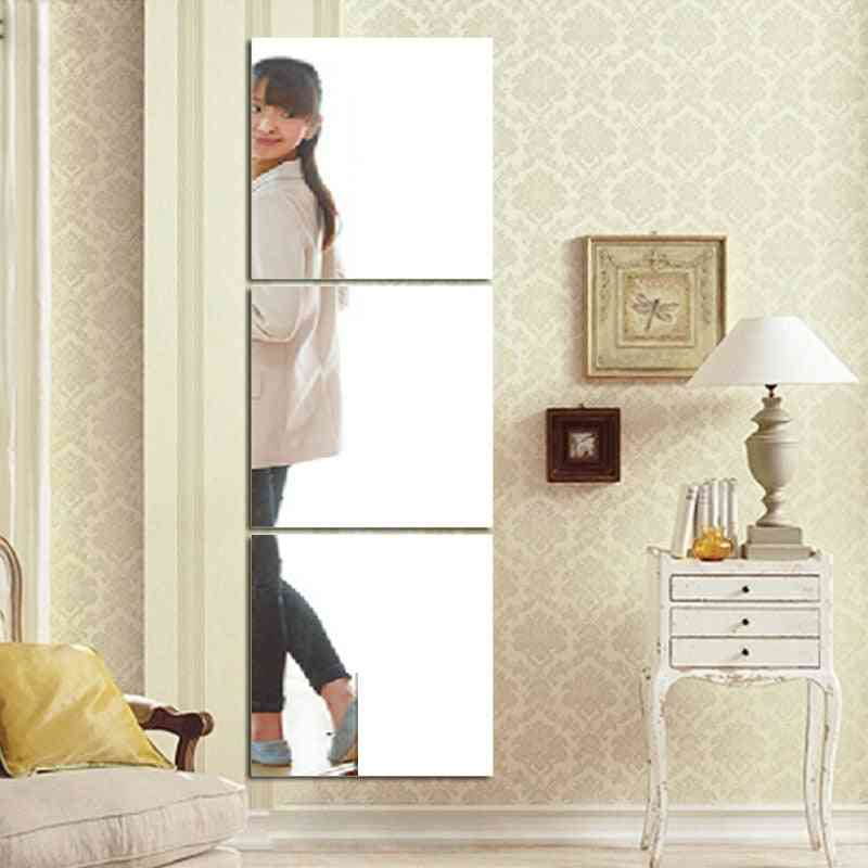 Self-adhesive Stickers Square Mirror- Crystal Wall Paper