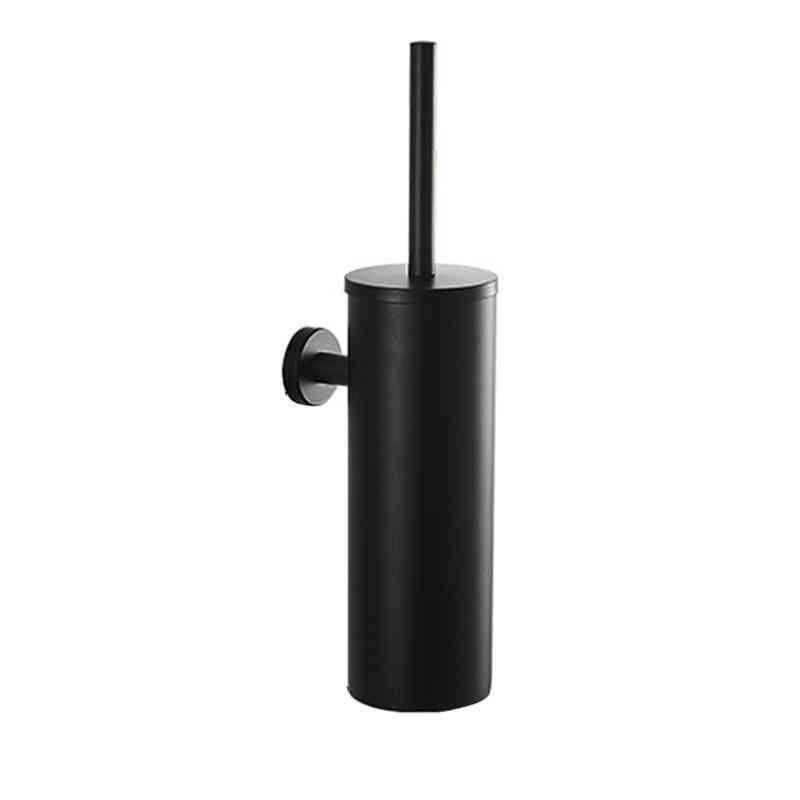Stainless Steel Wall Mount Toilet Brush Holder Set