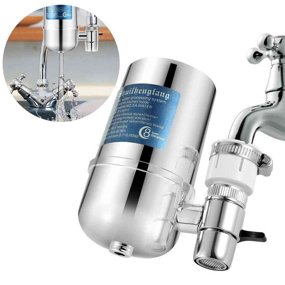 8 Layer Stainless Steel Tap- Purifier Multifunction Faucet Water Filter
