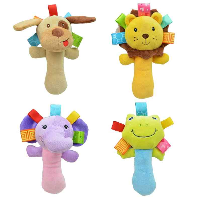 Newborn Baby, Cartoon Animal Plush Rattle Mobile Bell Infant Toddler Early Educational