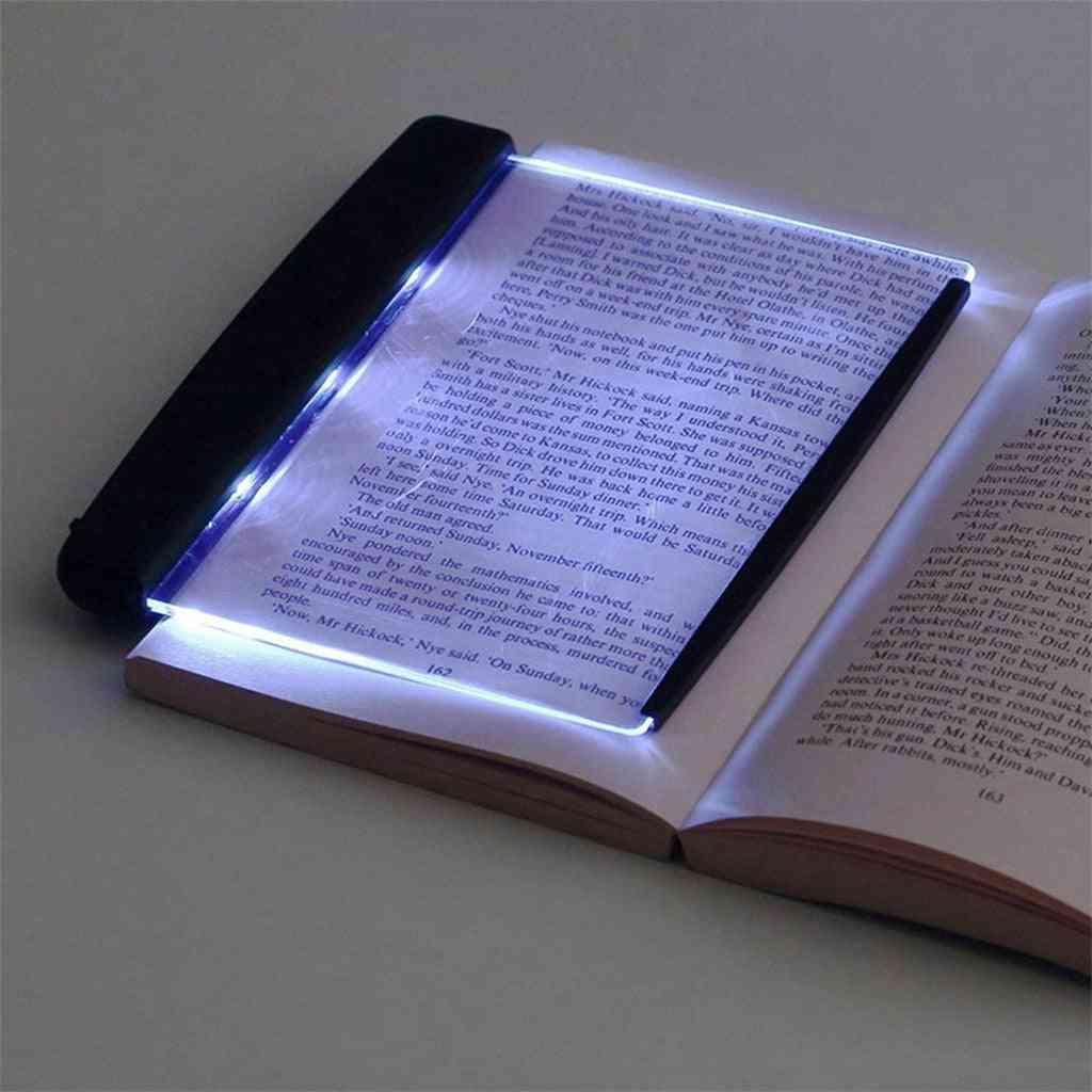 Creative Led Book Light, Reading Night Flat Plate