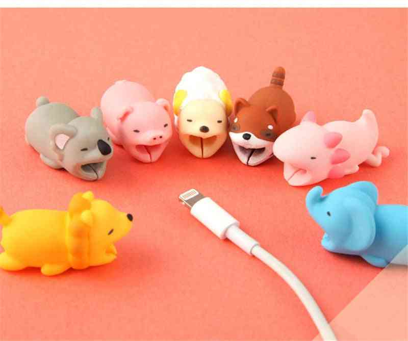 Animal Cute Cartoon Design-usb Cable Protector, Wire Organizer Holder For Iphone