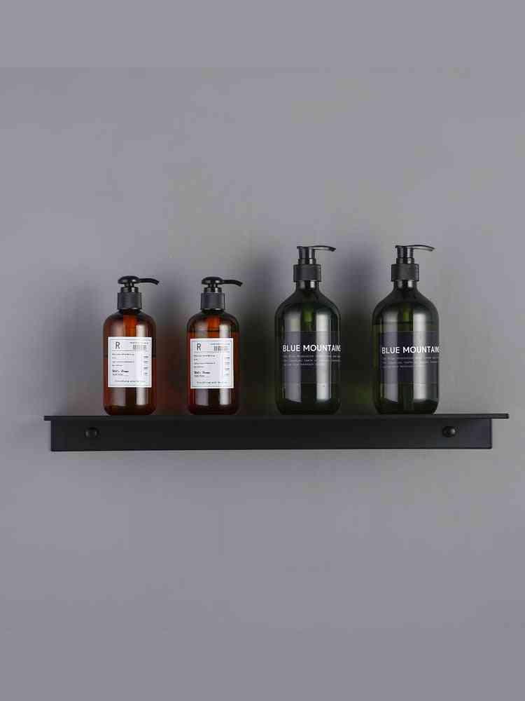 Modern Matt Black Shelves