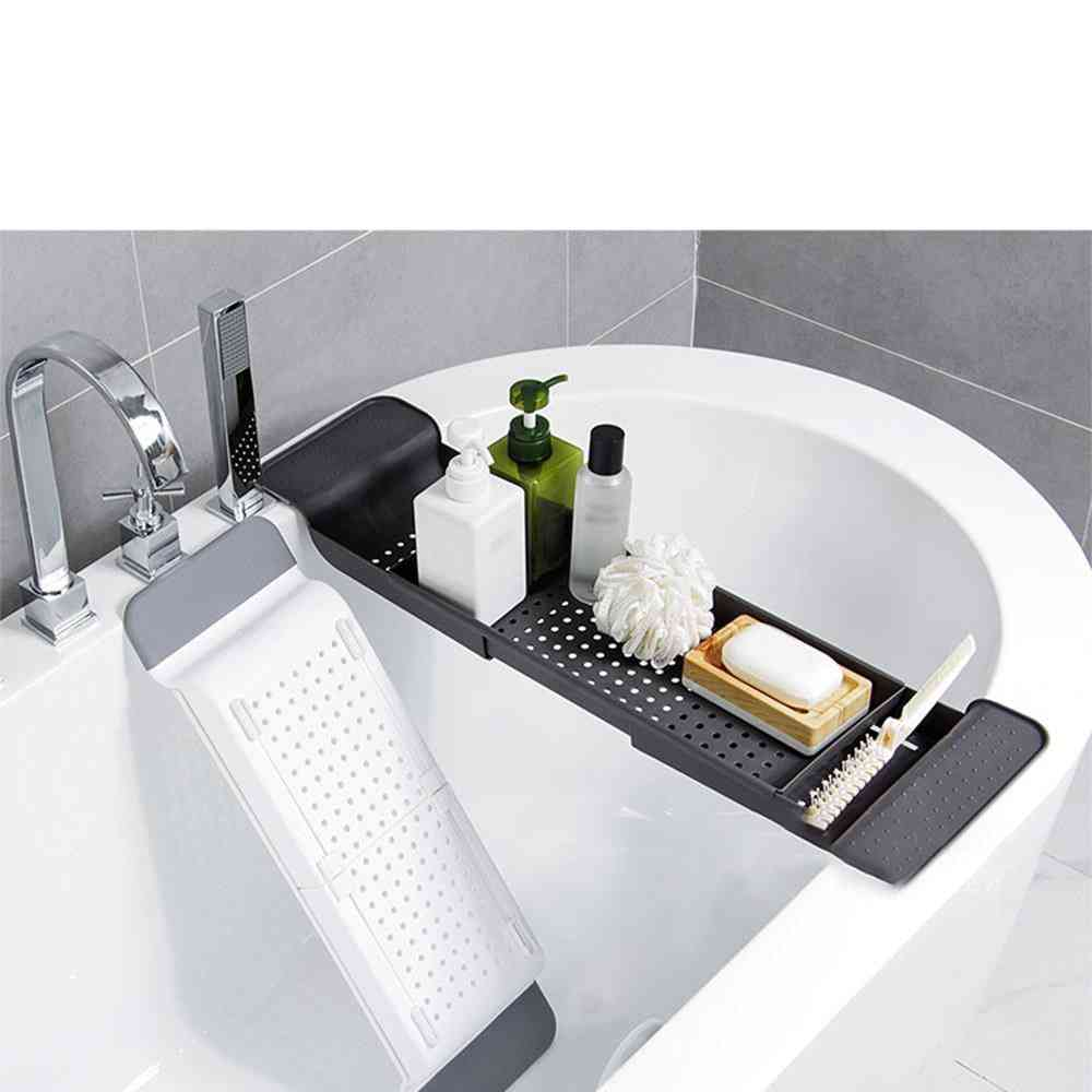 Double Layer And Retractable Draining Tray For Kitchen And Bathroom