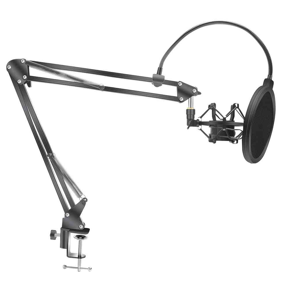 Scissor Arm-stand, Microphone Holder With A Spider-cantilever Bracket