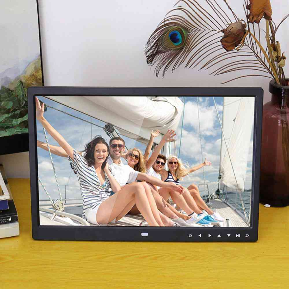 15 Inch Digital Picture Photo Frame With 16:9 Wide Screen And Remote Control
