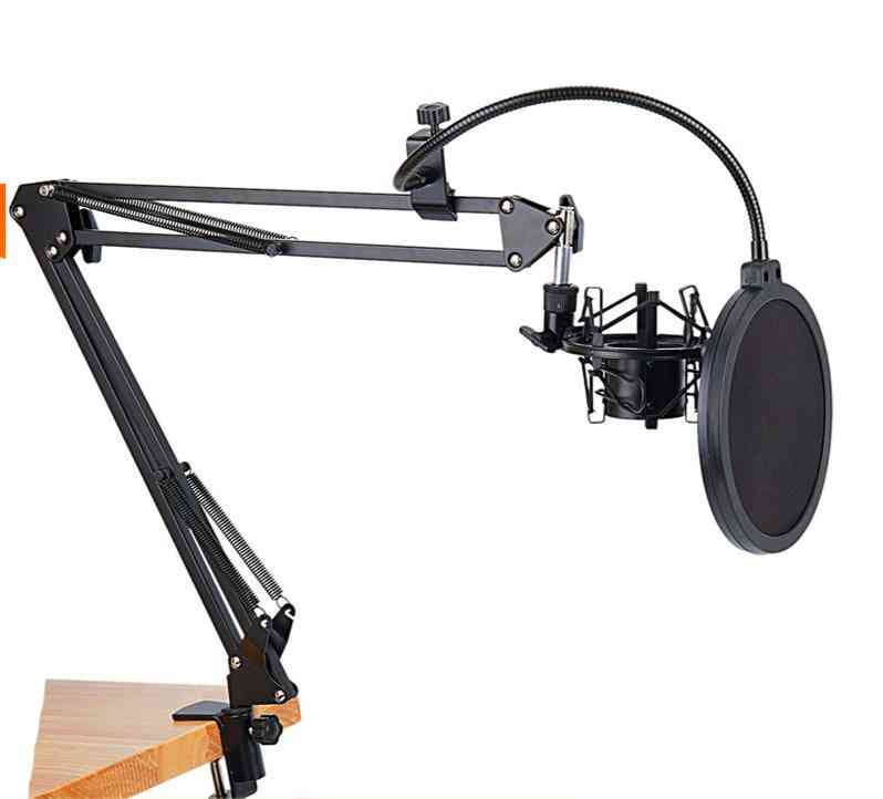 Scissor Suspension-arm For Nb-35 Microphone And Table-mounting Clamp, Windscreen Shield Kit