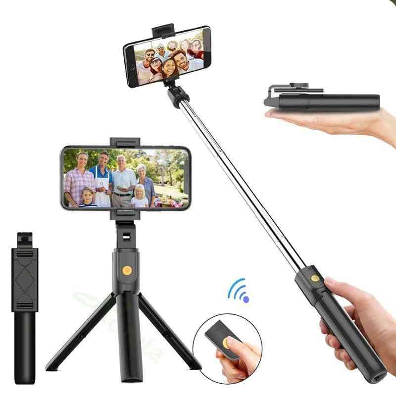 3 In 1 Wireless Bluetooth Selfie Stick - Foldable Mini Tripod With Remote Control