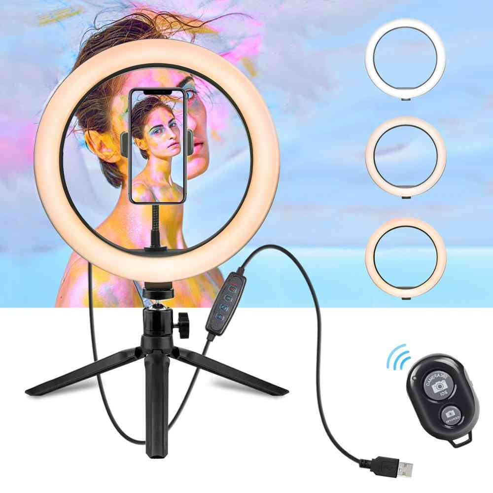 Light With Stand - Led Camera Selfie Ring