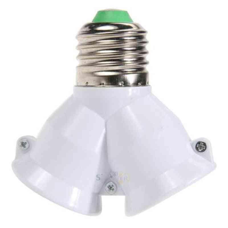 Screw Lamp Light Bulb Socket Base, Converter Adaptor Holder Split