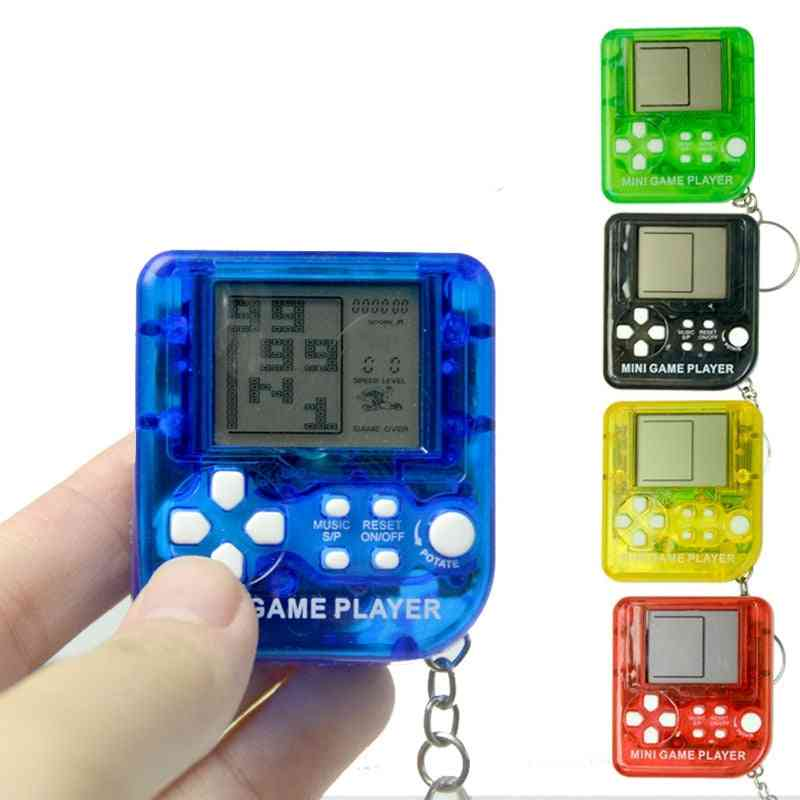 Retro Nostalgic Keychain - Tetris Video Game Player