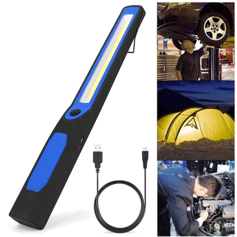2in1 Rechargeable Led Cob Camping Work Inspection Light