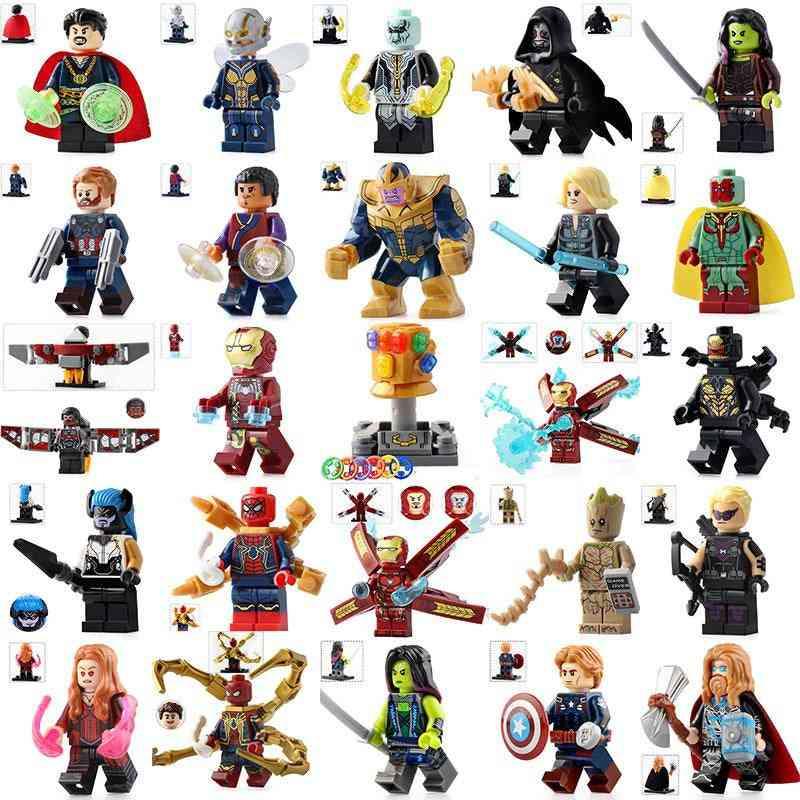 Superheroe Playmobil Uilding Block Doll - Iron Man Figurines Assembled Minifigures