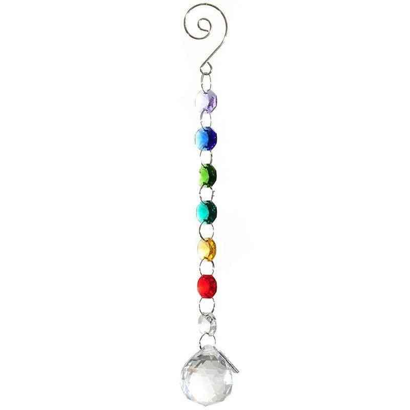 Crystal Ball Suncatcher Prisms Pendant - Glass Art Pendulum For Decor