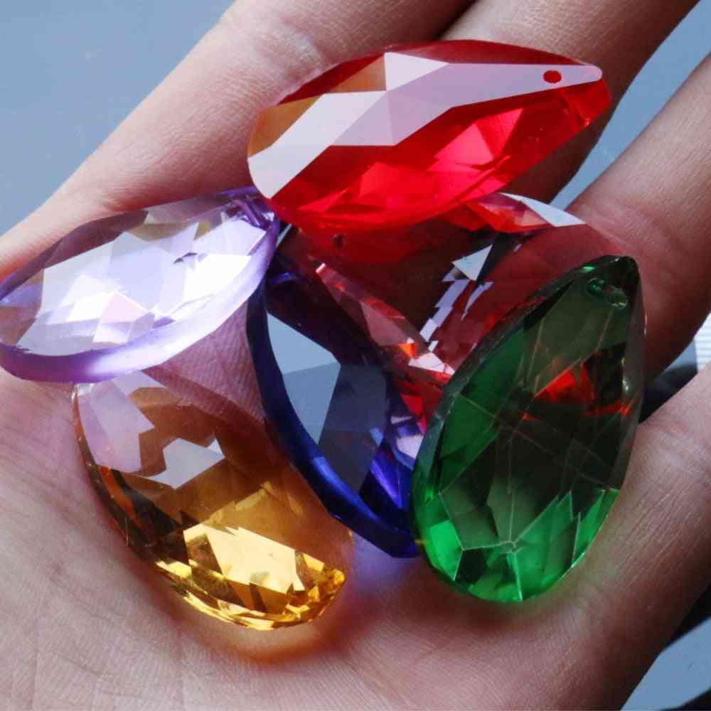 Rainbow Glass Crystal Prism Diy Pendant - Chandelier Jewelry Suncatcher Spacer Faceted