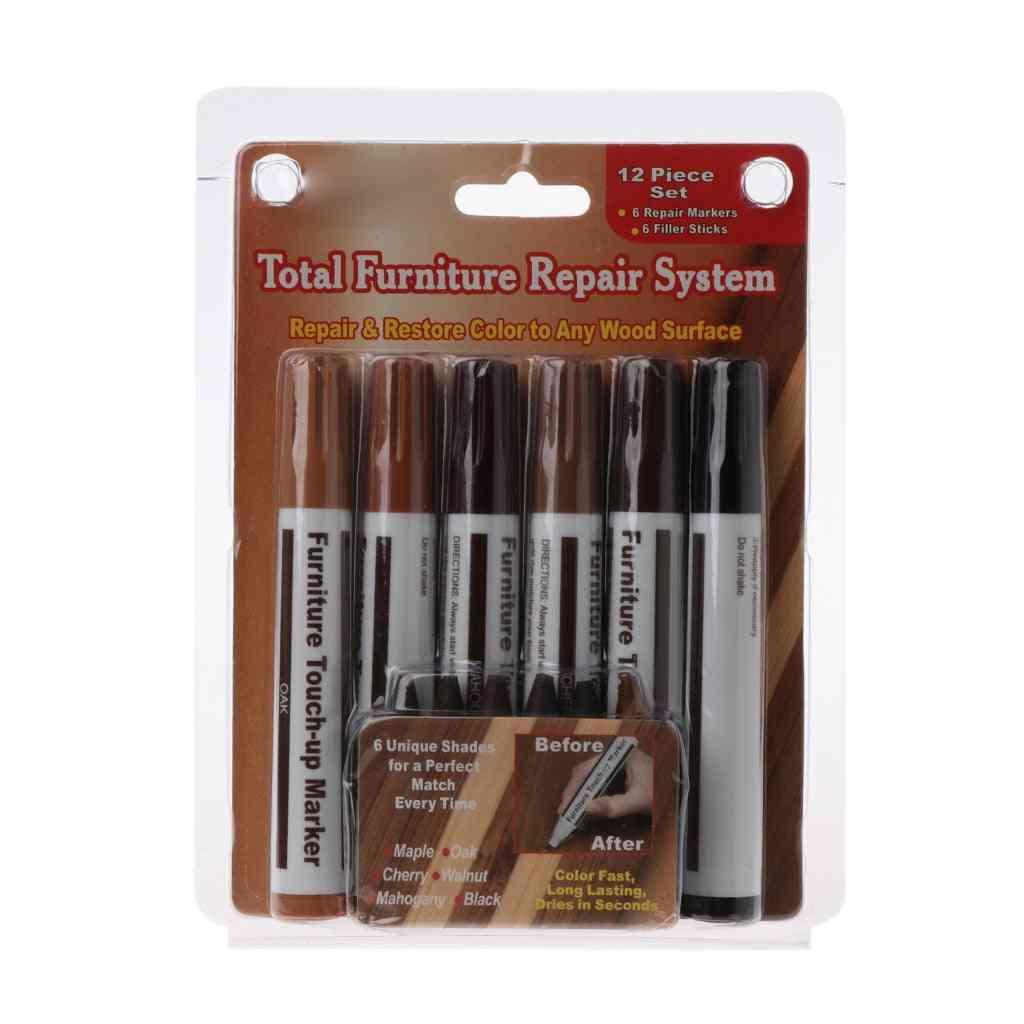 Filler Sticks Touch Up Marker Floor Furniture Scratch Fix Wood Repair System