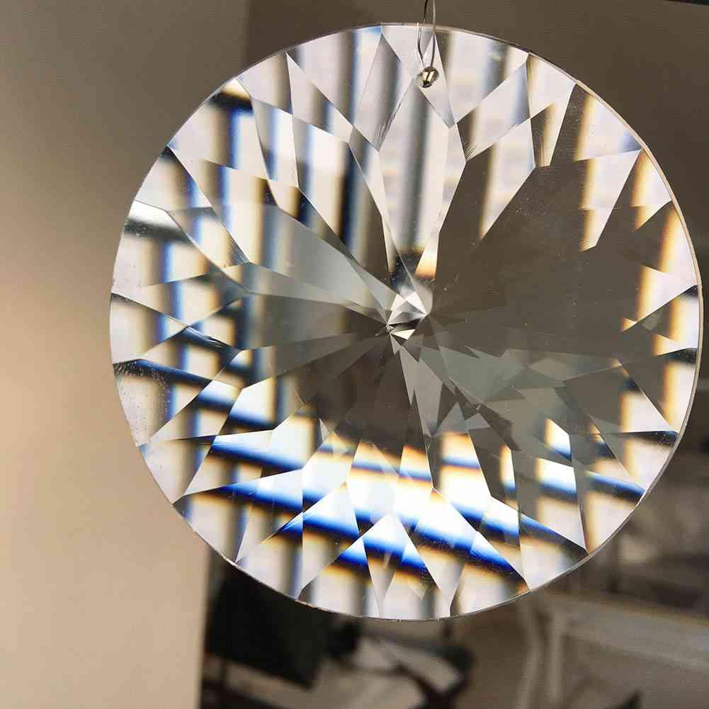 80mm  Arrow Head Cut-suncatcher, Chandelier Crystal Prism Pendant