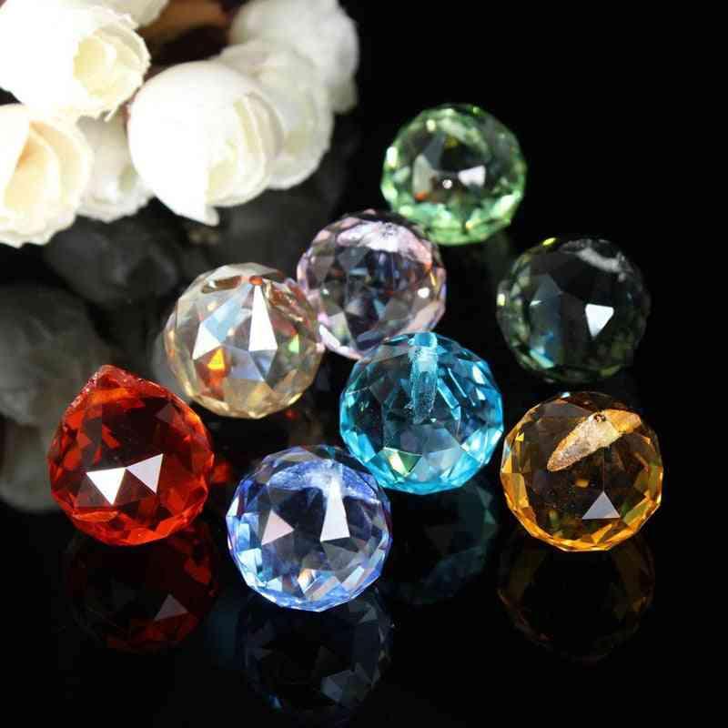 Crystal Chandelier Parts Haning Glass Prisms Rainbow Suncatcher Pendants For Light Lamp