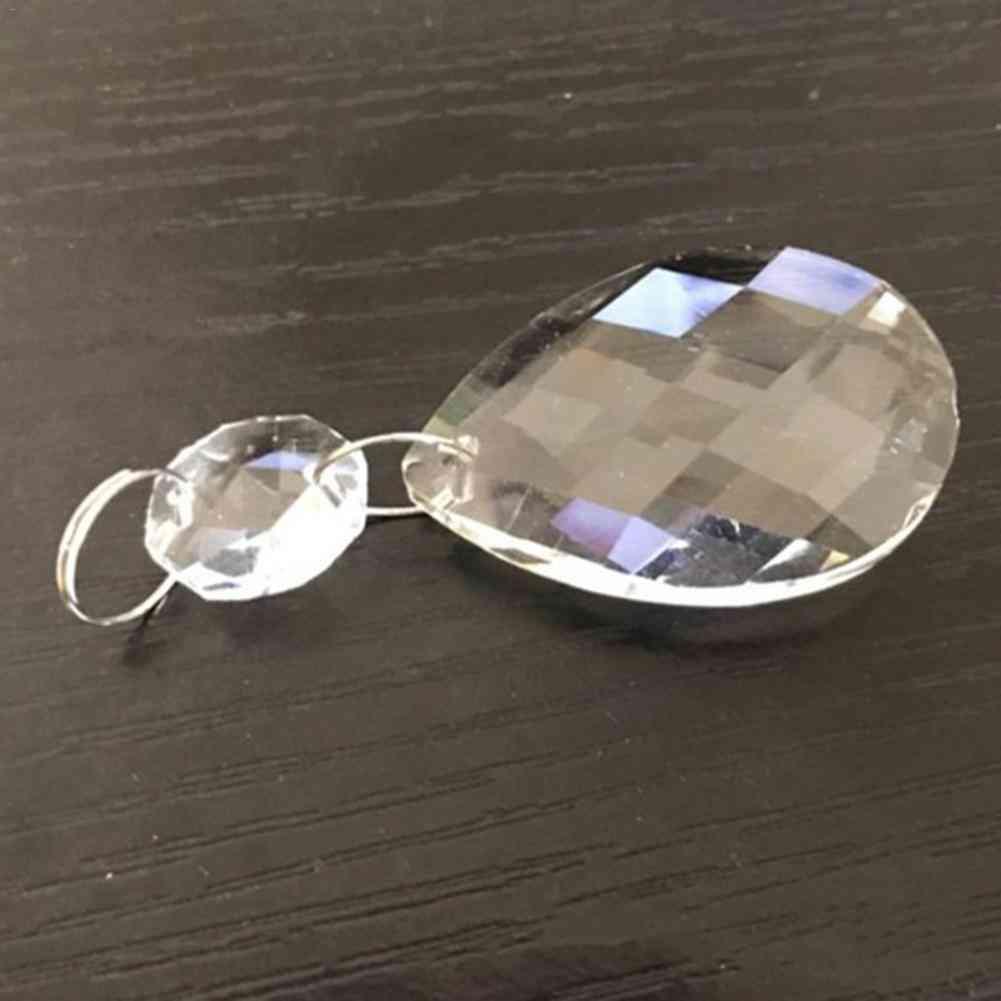 Clear Art Glass Drops Chandelier Parts, Pendant Light Lamp