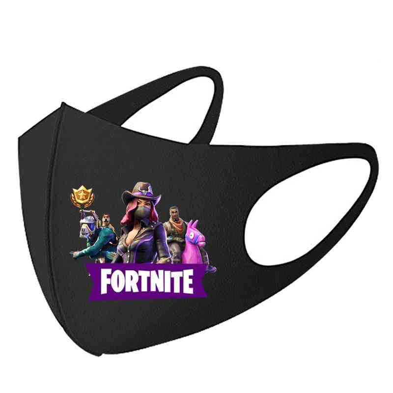 Fortnite Adult Face Mask, Anti Dust, Windproof - Reusable, Breathable Protective Mouth Caps For Kids