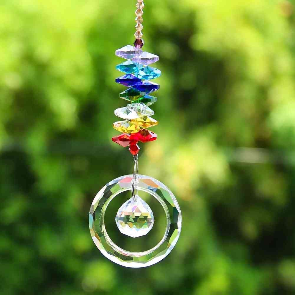 Crystals Beads - Chandelier Pendants Hanging Ornament Suncatcher Prisms Garden Decor Accessories
