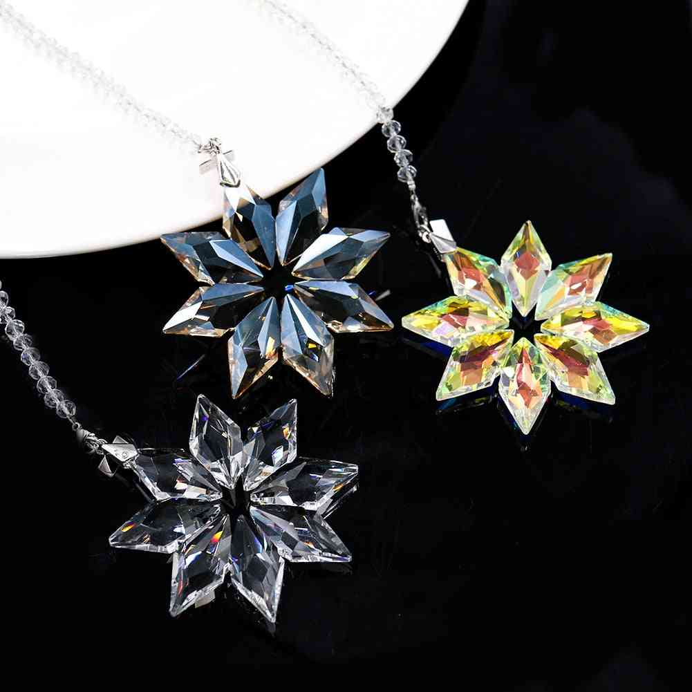Crytal Snowflake Shape, Chandelier Pendant - Suncatcher Hanging Acrylic Glass