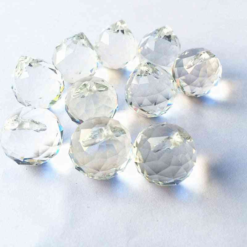 20mm Clear Faceted Ball Shaped-k9 Optical Crystal For Chandelier/wedding Decoration