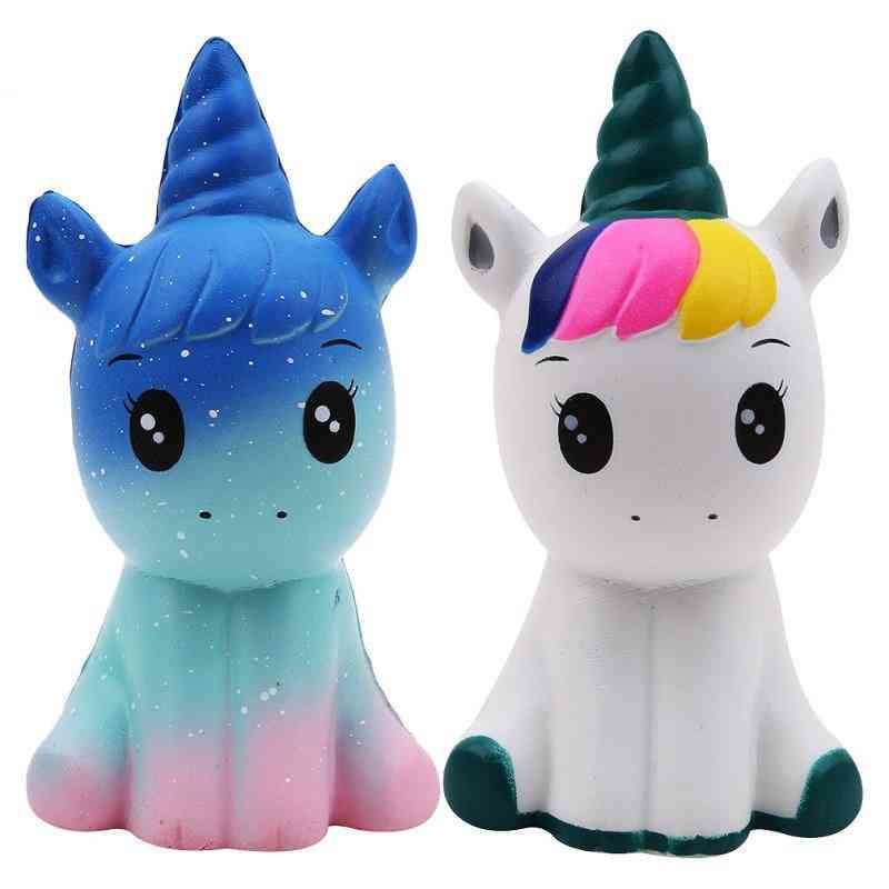 Colorful Galaxy Unicorn, Squishy Doll - Stress Relief Squeeze