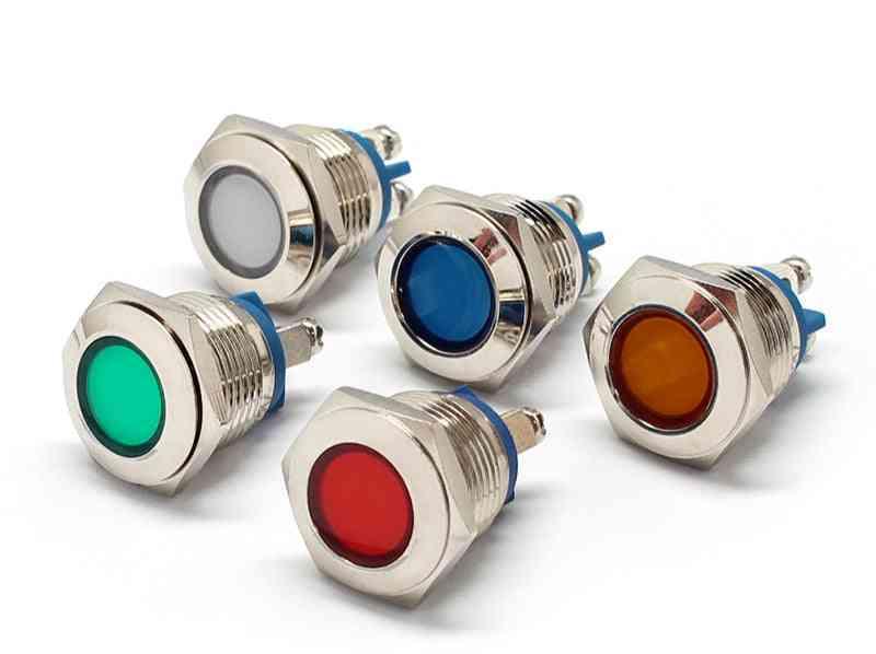 Metal Led Pilot Panel And Dash Signal Indicator -warning Light With Screw