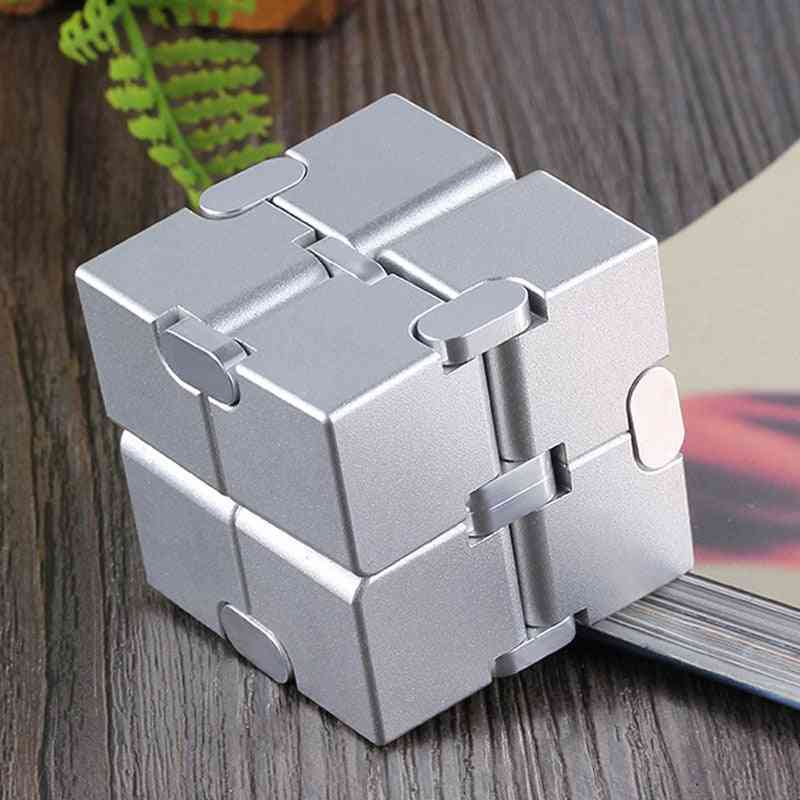 Metal Infinity Cube For Stress Relief Toy - Portable Type