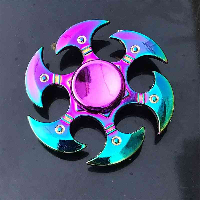 Rainbow Metal Finger Spinner Toy For Adult,