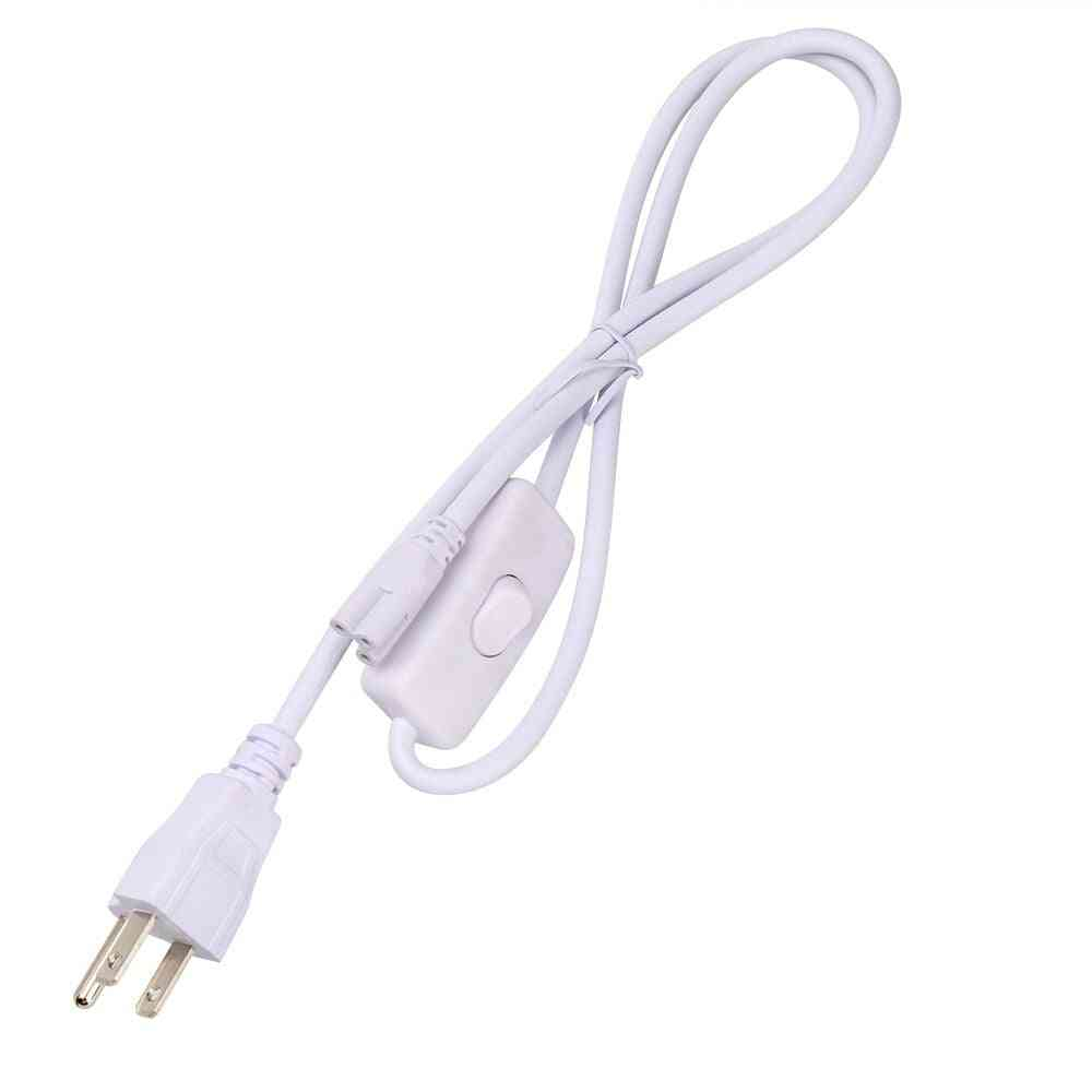 Power  Cable For Led Grow Light With On Off Switch And 3pin Eu/us Plug