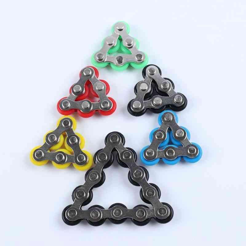 Bike Chain Fidget Spinner Bracelet For Anti Stress