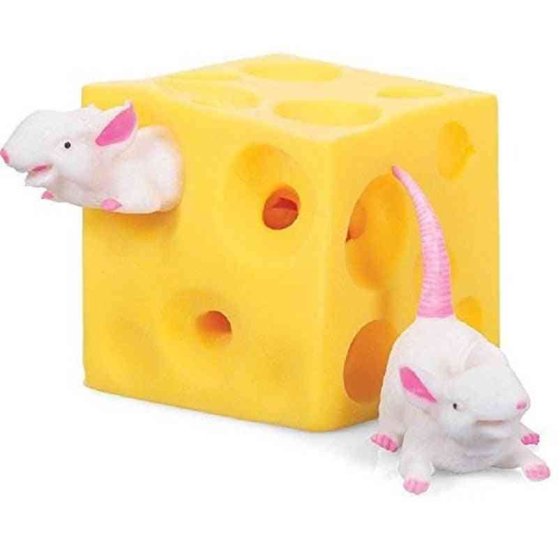 Funny Mice And Cheese Finger Squeeze