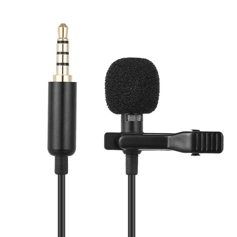Mini Portable Clipon Lapel Lavalier Condenser Mic Wired Microphone