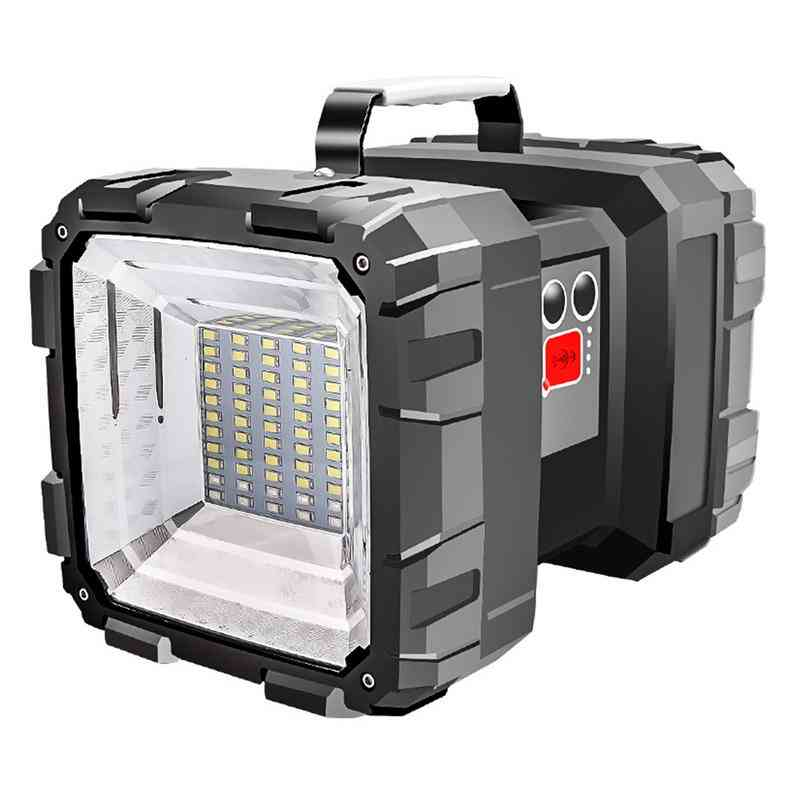 Portable, Super Bright, Double Head-large Flood Light With Multi-level Switch