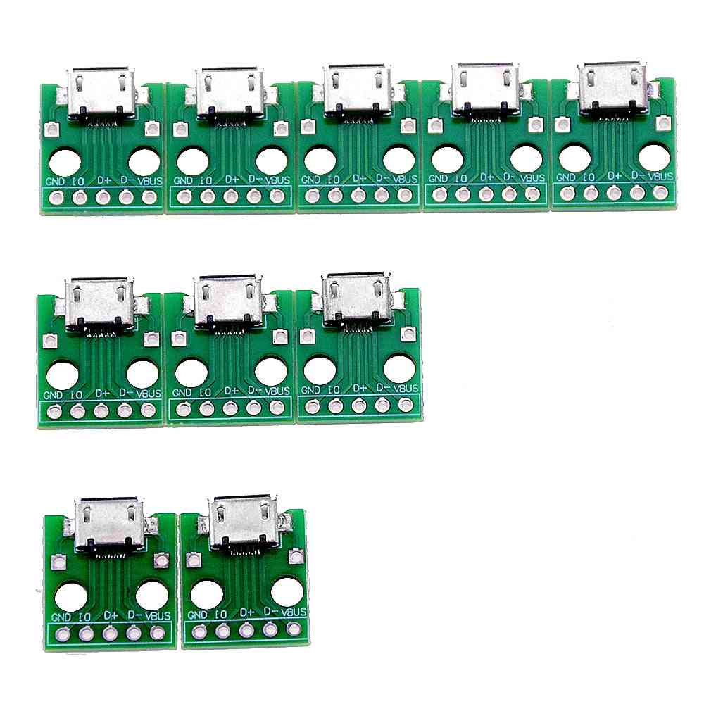Micro Usb To Dip Adapter -5pin Female Connector