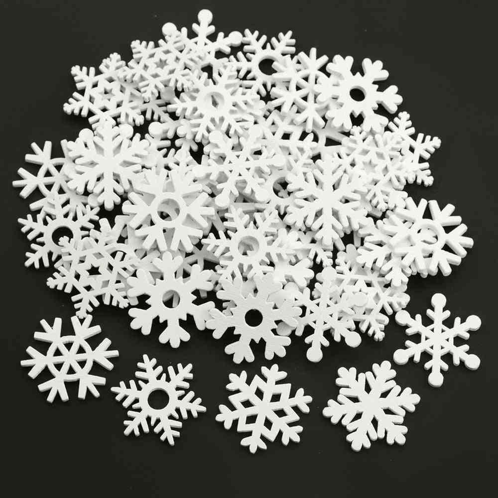 Mix Shape, Wooden Snowflakes Design-christmas Ornaments For Decorations