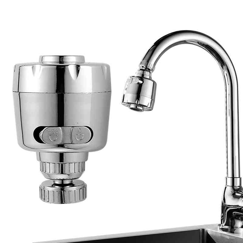 Rotary Faucet Booster 360° Rotatable Anti Splash Filter Tap For Kitchen