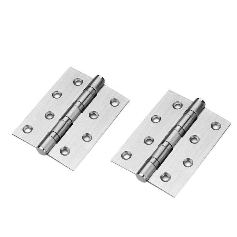 201 Stainless Steel 4x3x3 Mother Hinge- Bearing Mute Bedroom Door Hinge (silver 2pcs)