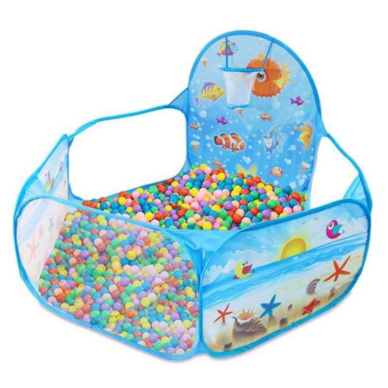 Children's Tent Pool Box - Tent Ocean Series Cartoon Game Ball